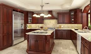 Kitchen Floors With Cherry Cabinets Tile Flooring
