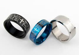 verlobungsring sprã che gebet ring kreuz titanium stahl material vier farbe sprache