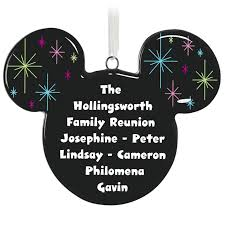 personalized ornaments mickey mouse silhouette personalized ornament personalized