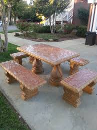 Concrete Patio Tables And Benches Prettypotsandbeyond Terra Cotta Pots Terracotta Pots