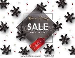christmas tree sales black friday sale poster black friday marketing design stock vector 725592088