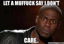 let a muffuck say i don t care meme kevin hart the hell 30899