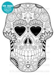print your own complciated coloring sugar skull coloring pages
