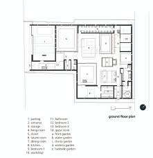 house plan architects gallery of square skylight house nks architects 11