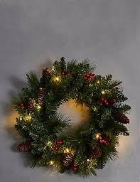 pre lit wreath winterberry pre lit wreath m s