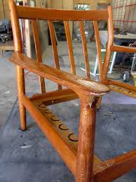 How To Lighten Stained Wood by How To Refinish A Vintage Midcentury Modern Chair Diy