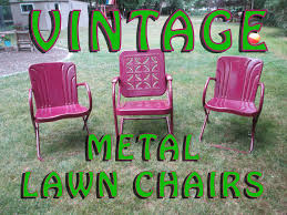 Old Metal Outdoor Furniture by Rejuvenate Vintage Metal Lawn Chairs 12 Steps With Pictures