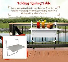 wonderland folding balcony table to hang on railing coffee table