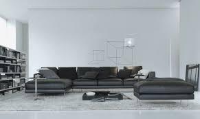 salon avec canapé noir canapé noir cuir beau deco salon avec canape gris 6 canape angle