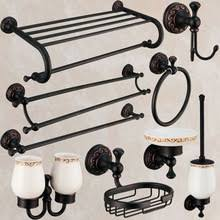 Bathroom Hardware Sets Oil Rubbed Bronze Black Bathroom Accessories Promotion Shop For Promotional Black