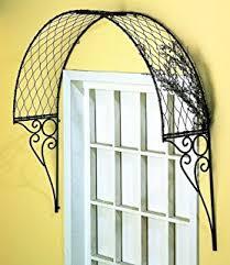 ornamental metal garden window or door trellis