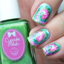 polished lifting 31dc2017 tie dye nail art inspired by