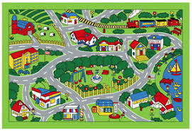 Kid Play Rug Children S Play Mat City Map Design Area Rug 39 X 58 Baby Kid