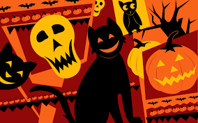 halloween background cat and pumpkin halloween wallpapers walls wallpaperspics