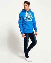superdry trackster hoodie superdry men hoodies royal grit