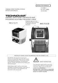 bell u0026 gossett 193 technovar variable speed pump controller and