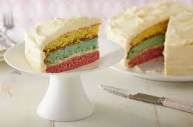 lemon icing rainbow cake tesco real food