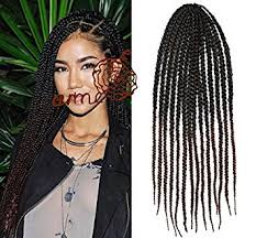 what kind hair use boxbraids amazon com black to auburn two colors ombre box braids hair