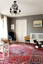surprised how much i am loving this red persian rug with pratt and