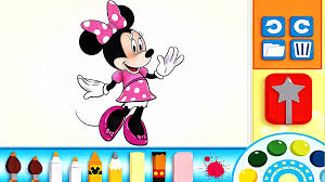 minnie mouse color and play clup house paint 3d color disney