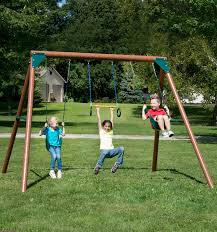 classic backyard swing set with trapeze bar u0026 swings