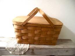 vintage picnic basket vintage basket vintage picnic basket by vintagemarketplace