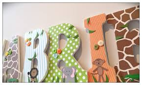 Letters For Baby Nursery Wood Nursery Letters Safari Letters Animals Boy Baby Boys