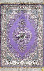 Area Rug Materials Purple Rug Turkish Carpet Silk Rug Tabriz Rugs