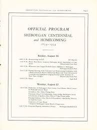 centennial celebration souvenir booklet the state sheboygan centennial and homecoming 1834 1934