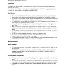 Visual Merchandising Job Description For Resume by Cover Letter Job Description For Merchandiser Job Description For