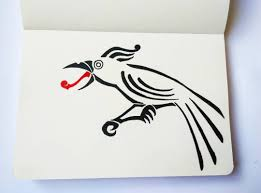 simple norse tattoo the raven from the north simple raven tattoo design slightly