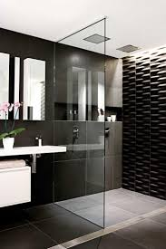 black tile bathroom ideas lovely black and white tile bathroom ideas for your home
