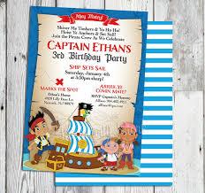 jake neverland pirate invitations jake