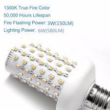 e26 e27 led flame effect fire light bulbs flickering emulation