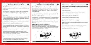 ideas of christmas around the world reading comprehension