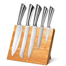 stainless steel kitchen knives professional 6 pieces stainless steel kitchen knife set with