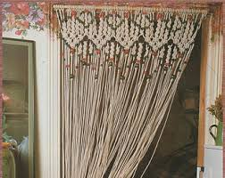 How To Make A Room Screen Divider - macrame screen etsy