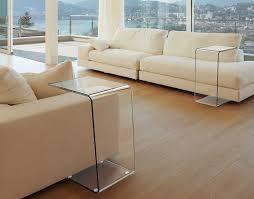 bout de canap en verre bout de canapé uk clair verre courbé a chaud 45x31 5x66 cm et066