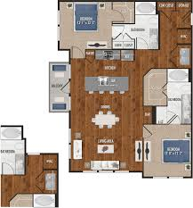 two bedrooms b5 two bedroom floor plan for alexan 5151