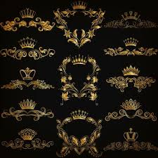 crown with golden ornaments luxury vector 03 vector ornament