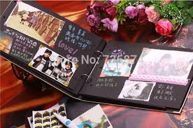 photo album black pages 10 inch diy photo album 30 pages black card diy handmade fairy