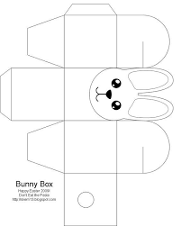 gift bag templates free printable easter box easter bunny easter crafts for kids free box