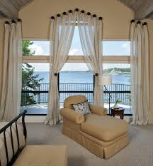 sheer white voile tie top curtains set of 2 amazon co uk