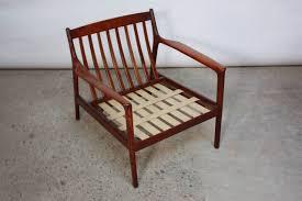 danish modern lounge chair in velvet and teak for sale at 1stdibs