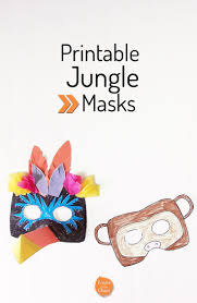 printable jungle masks toucan and monkey create in the chaos