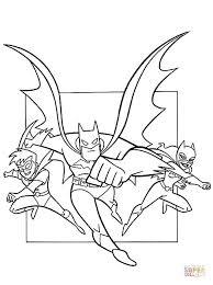 batman catwoman robin coloring free printable coloring