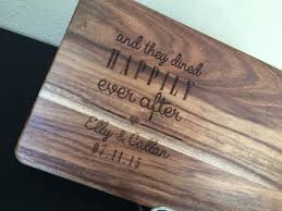 personalised cutting boards happily after chopping board personalised gifts how