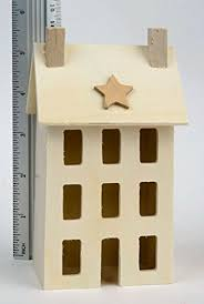 amazon com 4 unfinished wooden saltbox houses for decorating and