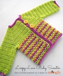 crochet baby sweater pattern loopy baby sweater moogly