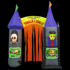 Inflatable Halloween Archway Home Accents Holiday 9 5 Ft Inflatable Archway House Of Horrors